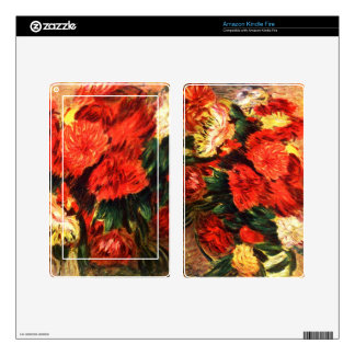 Still life with Chrysanthemums by Pierre Renoir Decals For Kindle Fire