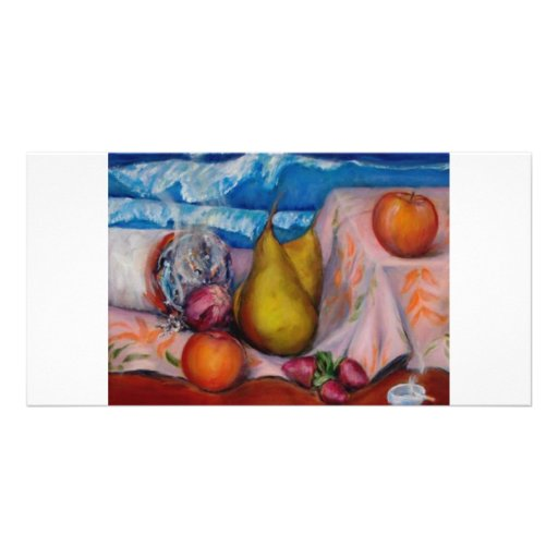 Still Life with Cigarette Personalized Photo Card