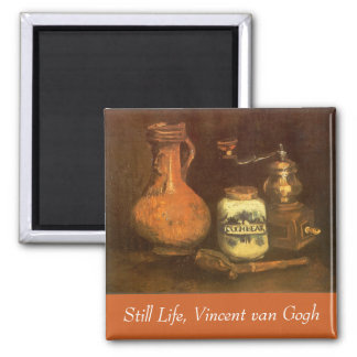 Still Life with Coffee Mill by Vincent van Gogh 2 Inch Square Magnet