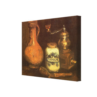 Still Life with Coffee Mill by Vincent van Gogh Canvas Print