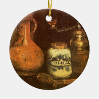 Still Life with Coffee Mill by Vincent van Gogh Ceramic Ornament