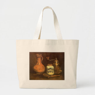 Still Life with Coffee Mill by Vincent van Gogh Large Tote Bag