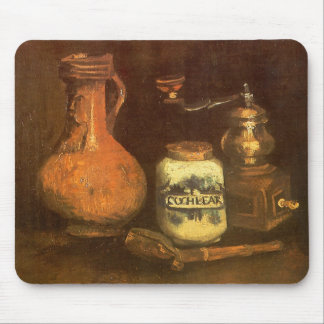 Still Life with Coffee Mill by Vincent van Gogh Mouse Pad