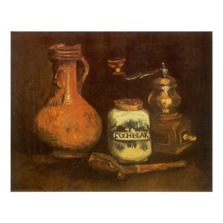 Still Life with Coffee Mill by Vincent van Gogh Poster