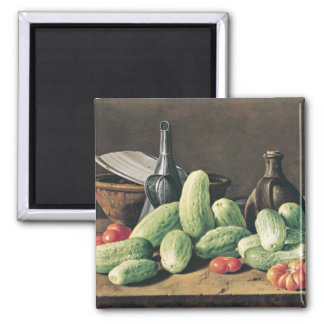 Still Life with Cucumbers and Tomatoes Magnet