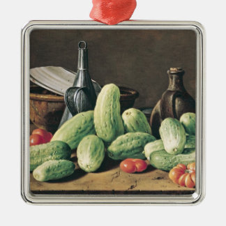 Still Life with Cucumbers and Tomatoes Metal Ornament