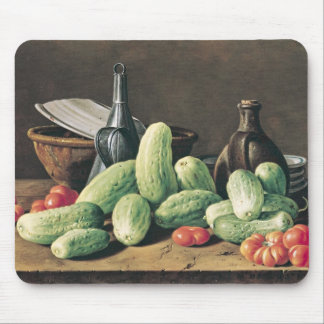 Still Life with Cucumbers and Tomatoes Mouse Pad