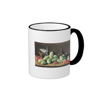 Still Life with Cucumbers and Tomatoes Ringer Mug