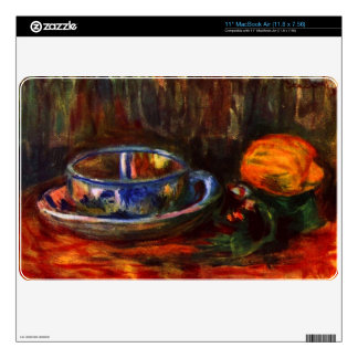 Still life with cup by Pierre Renoir MacBook Decal