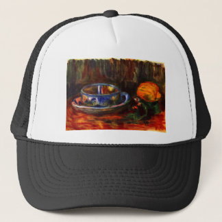 Still life with cup by Pierre Renoir Trucker Hat
