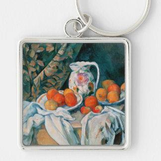 Still Life with Curtain, Paul Cézanne Keychain