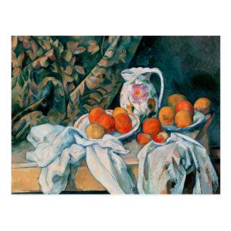 Still Life with Curtain, Paul Cézanne Post Cards