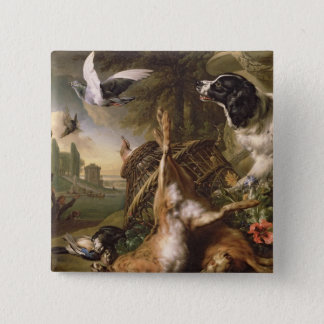 Still Life with Dead Game and Hares Button