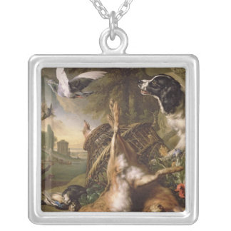 Still Life with Dead Game and Hares Silver Plated Necklace