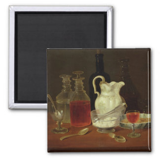 Still Life with Decanters 2 Inch Square Magnet