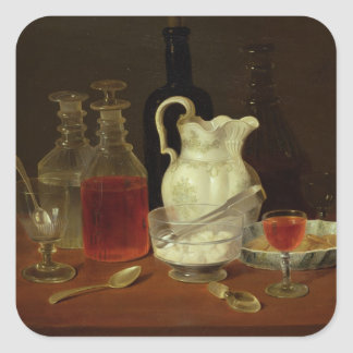 Still Life with Decanters Square Sticker