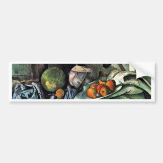 Still Life With Eggplant By Paul Cézanne Car Bumper Sticker