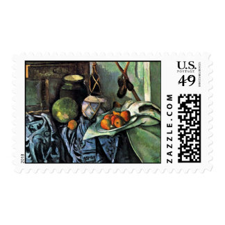Still Life With Eggplant By Paul Cézanne Stamps
