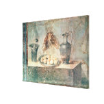 Still life with eggs and thrushes stretched canvas prints