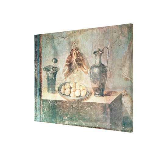 Still life with eggs and thrushes canvas print