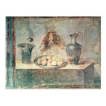 Still life with eggs and thrushes postcard