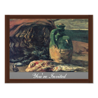 Still Life With Fish By Gauguin Paul (Best Quality Personalized Invite