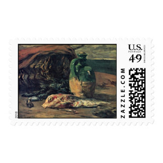 Still Life With Fish By Gauguin Paul (Best Quality Postage