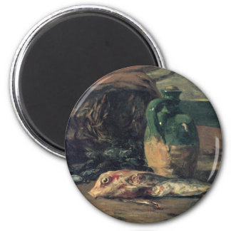 Still life with fish - Paul Gauguin 2 Inch Round Magnet