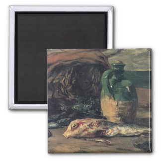 Still life with fish - Paul Gauguin 2 Inch Square Magnet