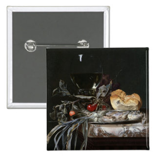 Still Life with Fish Platter 2 Inch Square Button