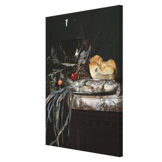 Still Life with Fish Platter Canvas Print