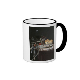 Still Life with Fish Platter Ringer Coffee Mug
