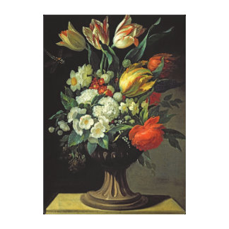 Still Life with Flowers, 1764 Canvas Print