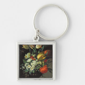 Still Life with Flowers, 1764 Keychain