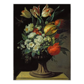 Still Life with Flowers, 1764 Poster