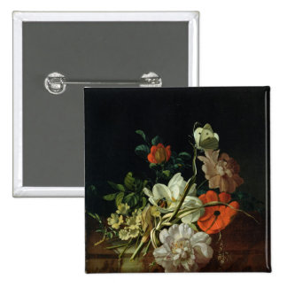 Still Life with Flowers 2 Inch Square Button