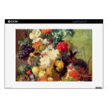 """Still Life with Flowers and Fruit 15"""" Laptop Decal"""