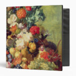 Still Life with Flowers and Fruit 3 Ring Binder