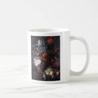 Still Life with Flowers and Fruit, Jan Van Huysum Coffee Mug