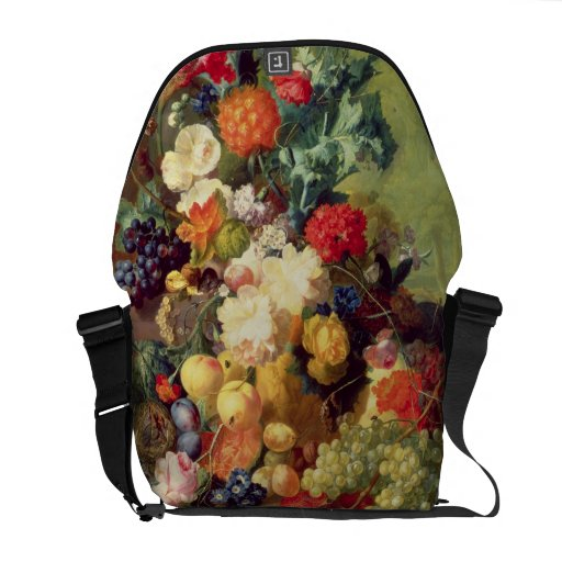 Still Life with Flowers and Fruit Messenger Bags