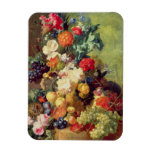 Still Life with Flowers and Fruit Rectangle Magnet