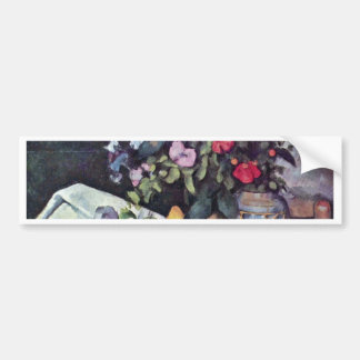 Still Life With Flowers And Fruits By Paul Cézanne Car Bumper Sticker