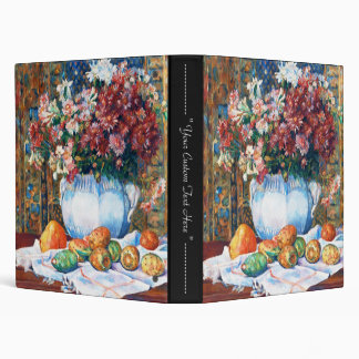 Still Life with Flowers and Prickly Pears Renoir 3 Ring Binder