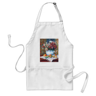 Still Life with Flowers and Prickly Pears Renoir Adult Apron
