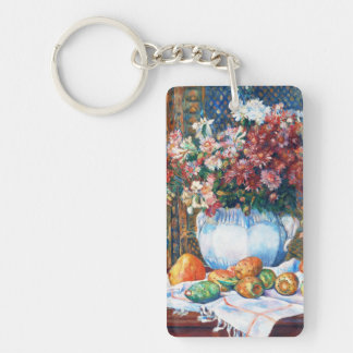 Still Life with Flowers and Prickly Pears Renoir Keychain