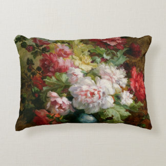 Still life with flowers and sheet music decorative pillow