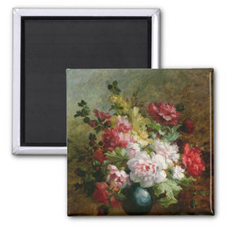 Still life with flowers and sheet music magnet