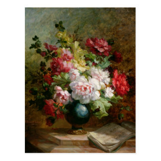 Still life with flowers and sheet music postcard