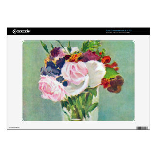 Still Life with Flowers by Edouard Manet Decal For Acer Chromebook