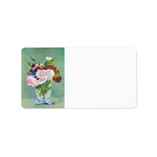 Still Life with Flowers by Edouard Manet Custom Address Labels